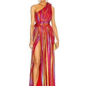 Retrofete Andrea One Shoulder Pink Gown Small